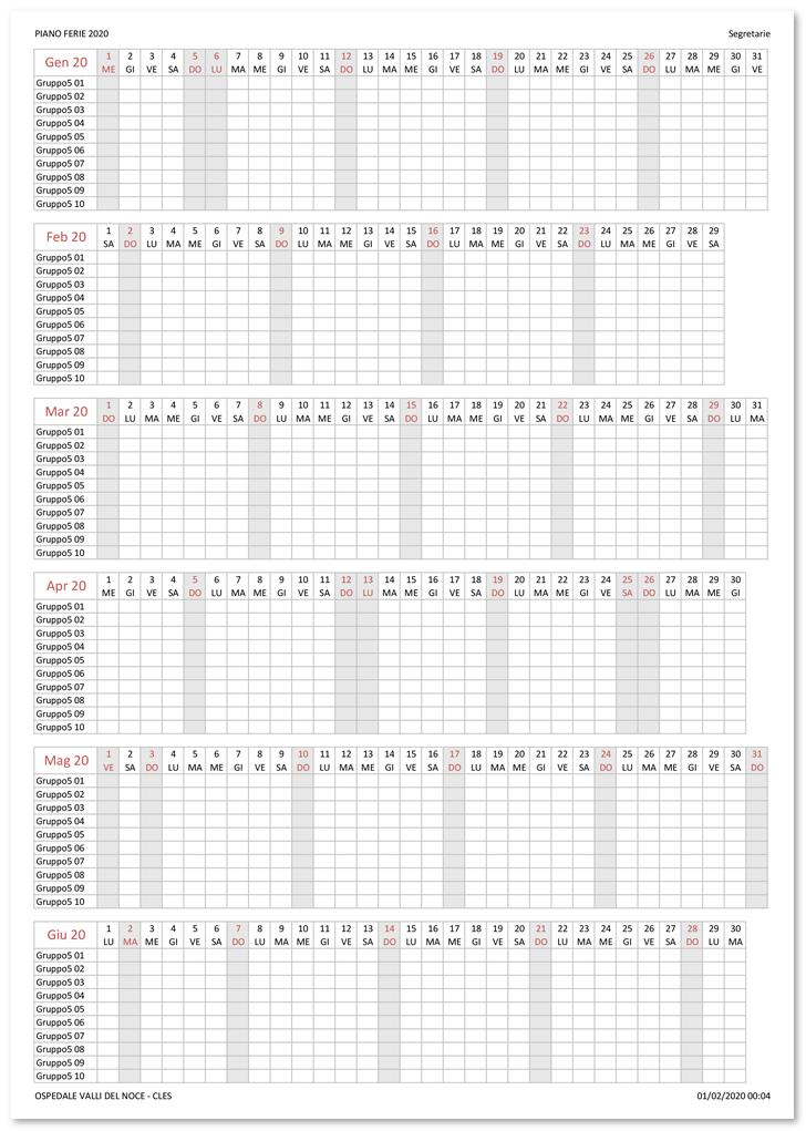 Programmare le assenze: il piano ferie | Le pagine di Gialandra